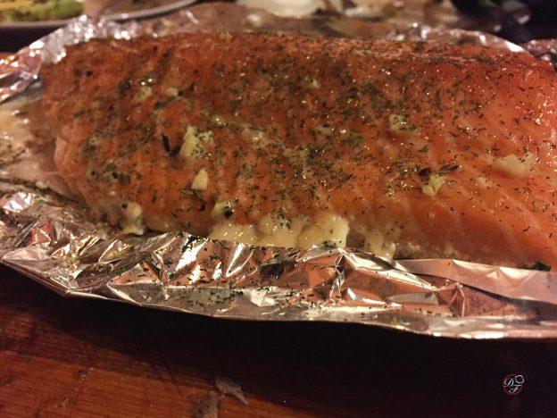 receta de salmón a la parrilla
